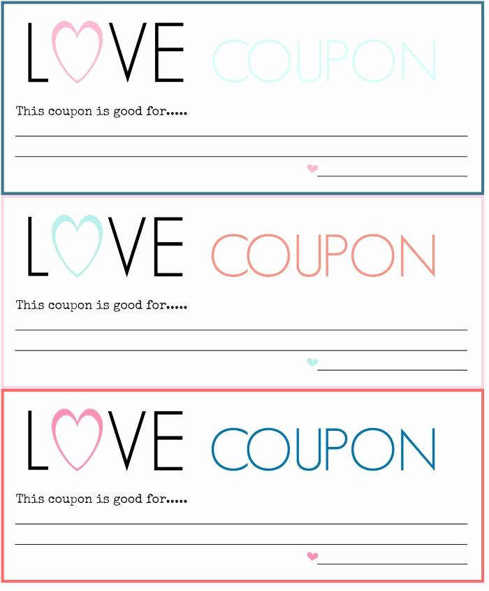 Free Printable Coupon Templates Elegant Diy Love Coupons Free Printable A Blossoming Life