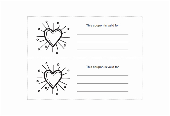 Free Printable Coupon Templates Fresh Homemade Coupon Templates – 23 Free Pdf format Download