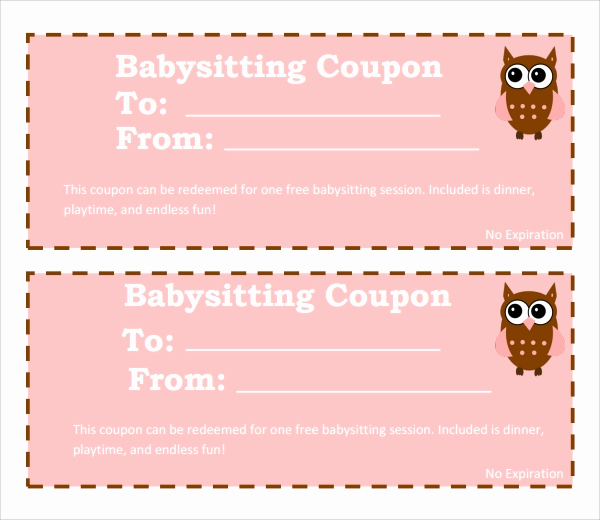 Free Printable Coupon Templates Luxury 8 Babysitting Coupon Templates Psd Ai Indesign