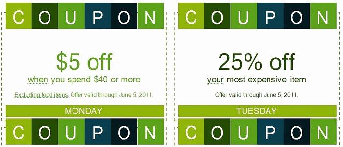 Free Printable Coupon Templates New 50 Free Coupon Templates Free Template Downloads
