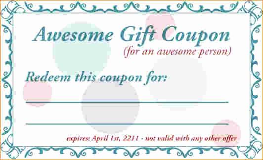 Free Printable Coupon Templates New Birthday Coupon Template