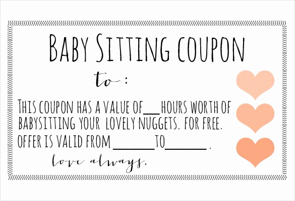 Free Printable Coupon Templates Unique 12 Baby Sitting Coupon Templates Psd Ai Indesign