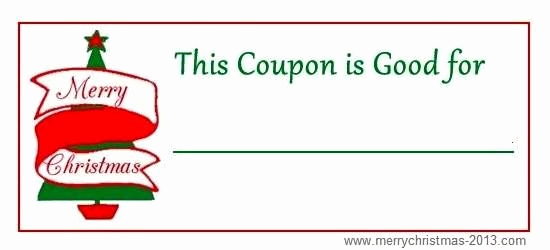 Free Printable Coupon Templates Unique Free Christmas Coupons Printable Template Blank