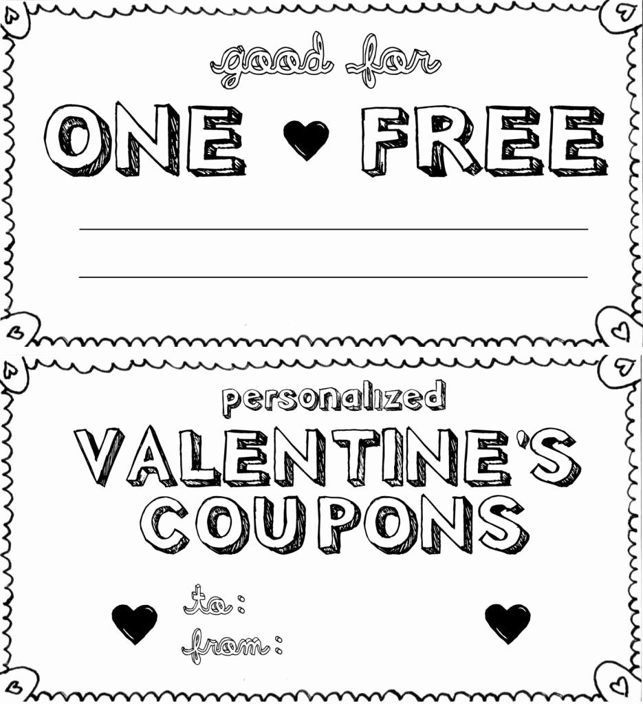 Free Printable Coupon Templates Unique Puppy Love Preschool Free Valentine Looove Coupon Printables