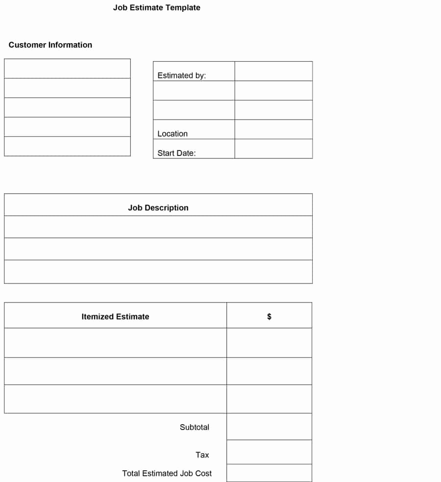 Free Printable Estimate forms Best Of 44 Free Estimate Template forms [construction Repair