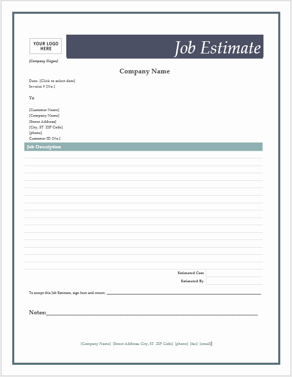 Free Printable Estimate forms Best Of Free Printable Estimate forms Onlineblueprintprinting