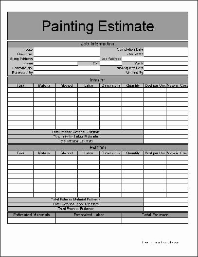 Free Printable Estimate forms Best Of Printable Job Estimate forms