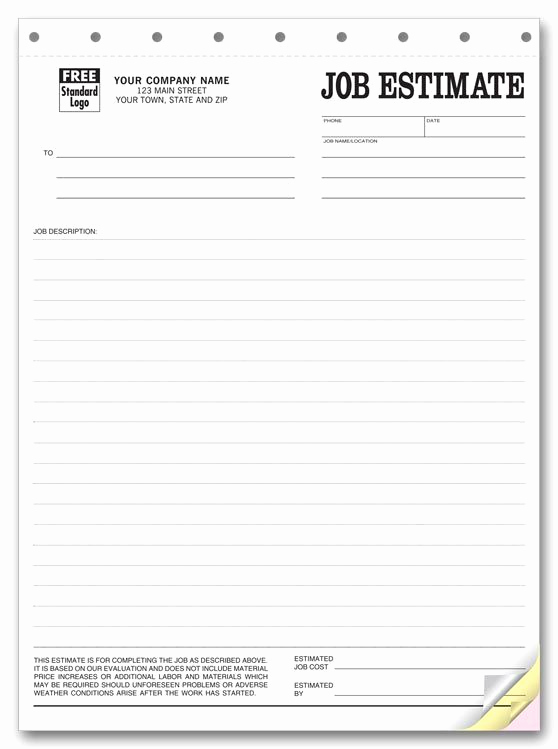 Free Printable Estimate forms Luxury Printable Blank Bid Proposal forms