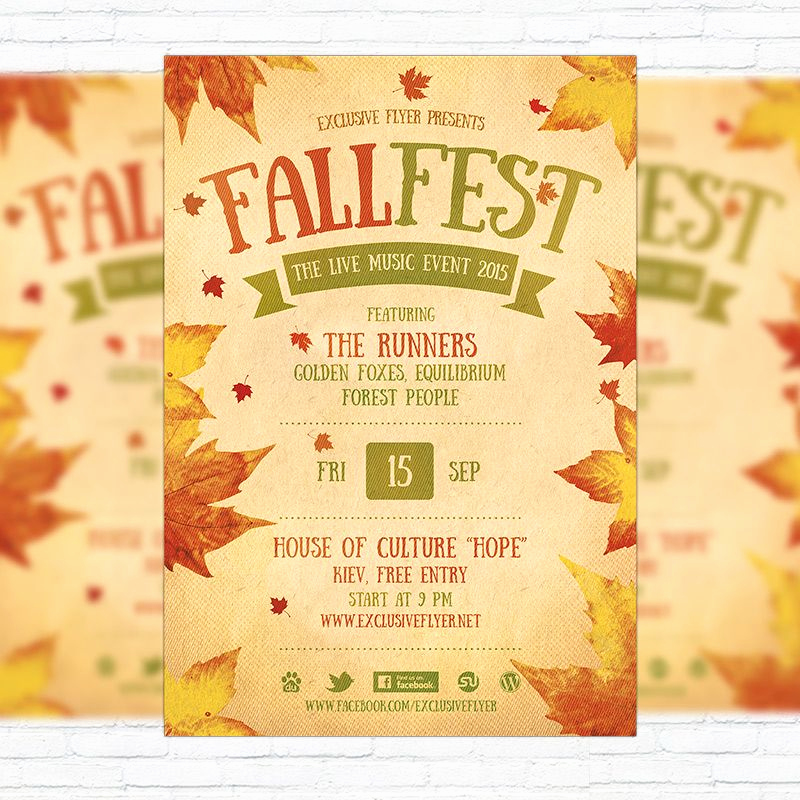 Free Printable event Flyer Templates Best Of Fall Festival Flyer Template Printable Flyers In Word