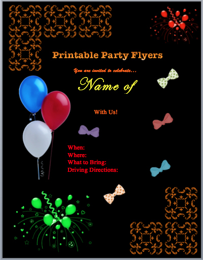 Free Printable event Flyer Templates Elegant Family Flyers
