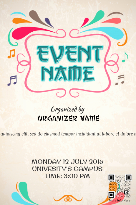 Free Printable event Flyer Templates Inspirational Colorful event Promotion Poster Template