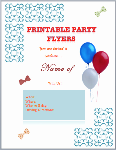 Free Printable event Flyer Templates Lovely Party Flyer Templates Printable