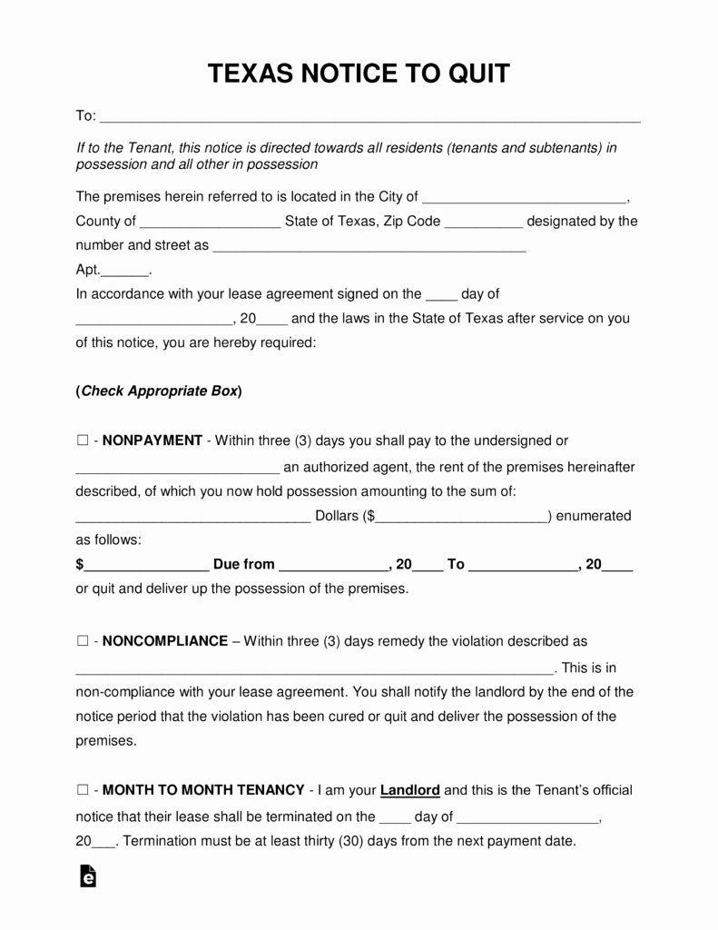 Free Printable Eviction Notice Best Of Free Texas Eviction Notice forms