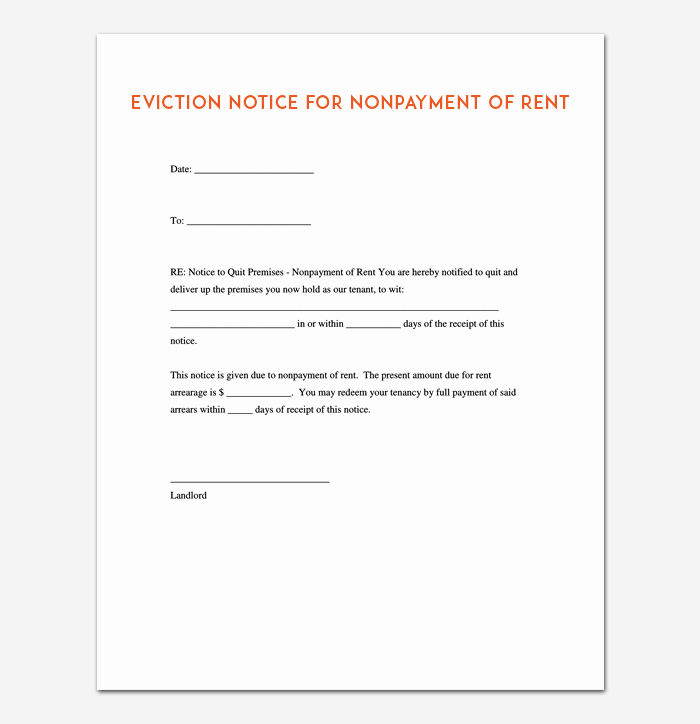 Free Printable Eviction Notice Elegant Eviction Notice Template 5 Blank Notices for Word Pdf