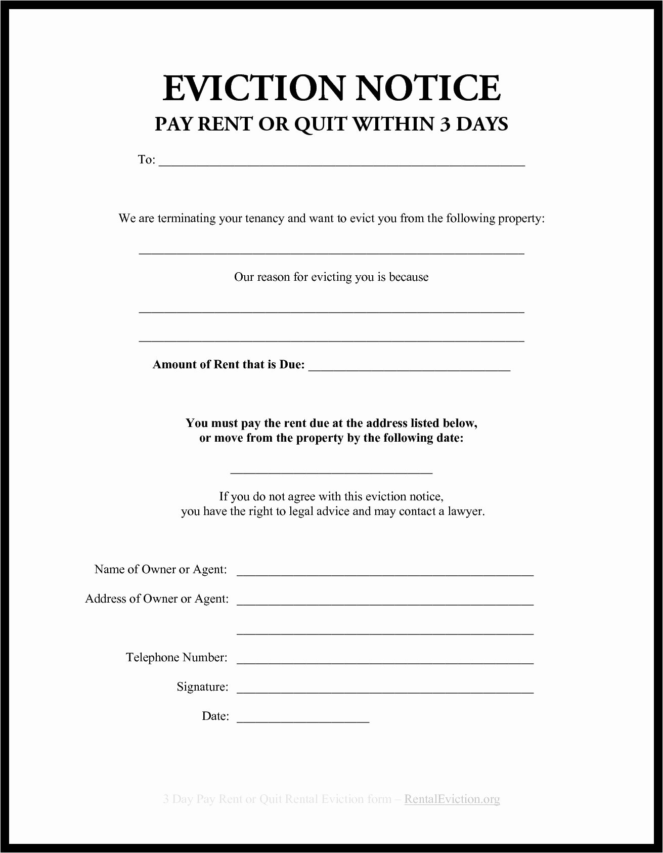 Free Printable Eviction Notice Lovely Blank Eviction Notice Example Mughals