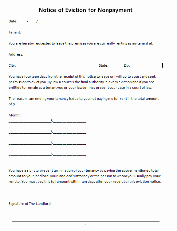 Free Printable Eviction Notice New 45 Eviction Notice Templates & Lease Termination Letters