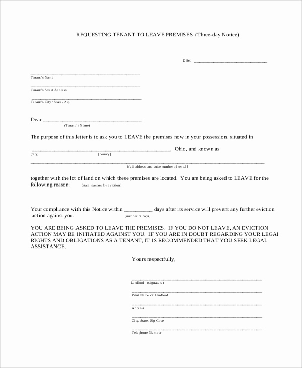 Free Printable Eviction Notice Unique 11 Eviction Notice Examples & Samples Pdf Google Docs