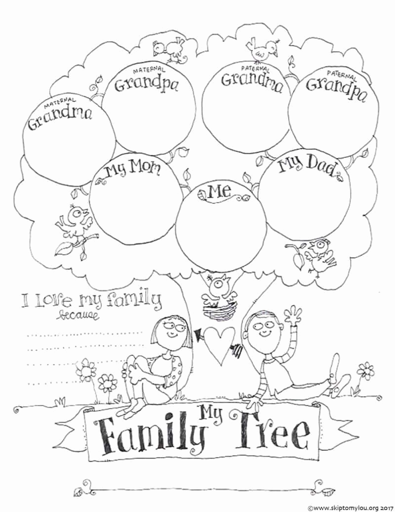Free Printable Family Tree Best Of Free Printable Family Tree Coloring Page Crafts