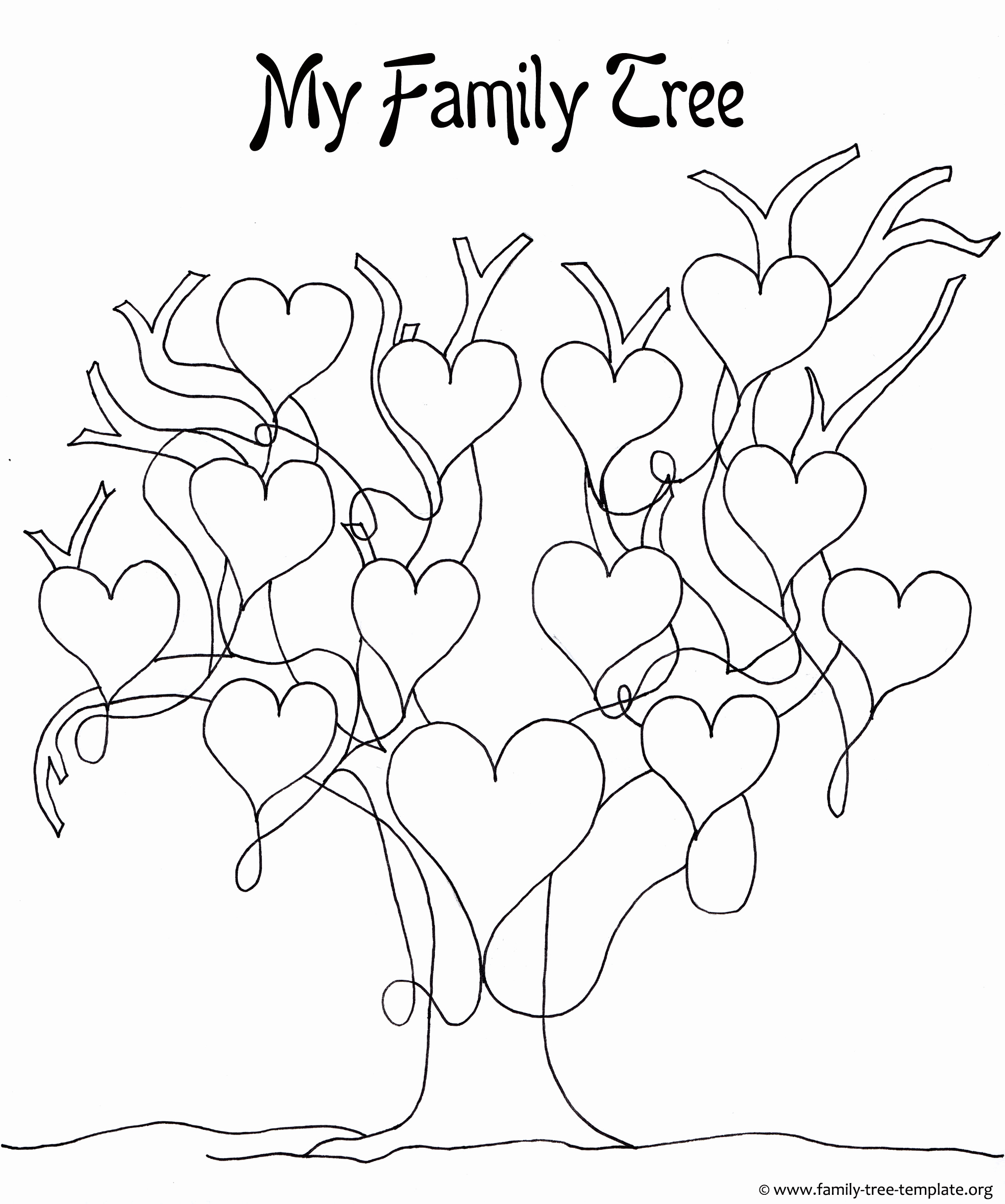 Free Printable Family Tree Lovely A Printable Blank Family Tree to Make Your Kids Genealogy