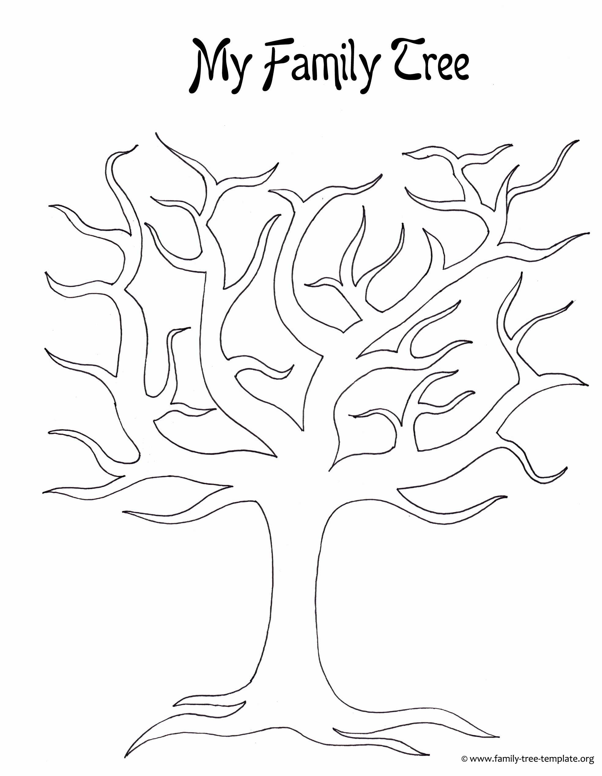 Free Printable Family Tree Luxury Kids Printable Family Tree Coloring Home