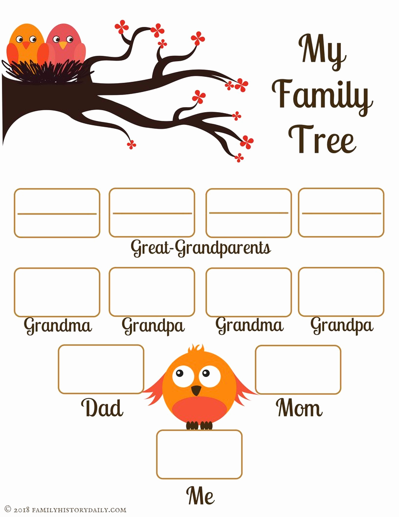 Free Printable Family Tree Unique 4 Free Family Tree Templates for Genealogy Craft or