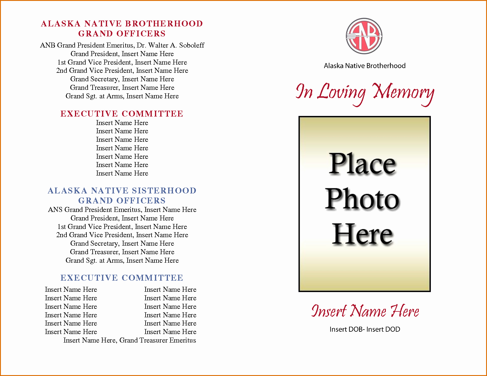 Free Printable Funeral Program Template Beautiful 8 Free Funeral Program Template Microsoft Word