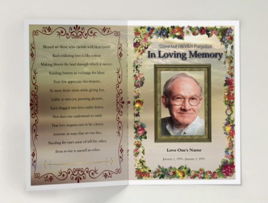 Free Printable Funeral Program Template Beautiful Free Funeral Program Template Self Editable and Printable