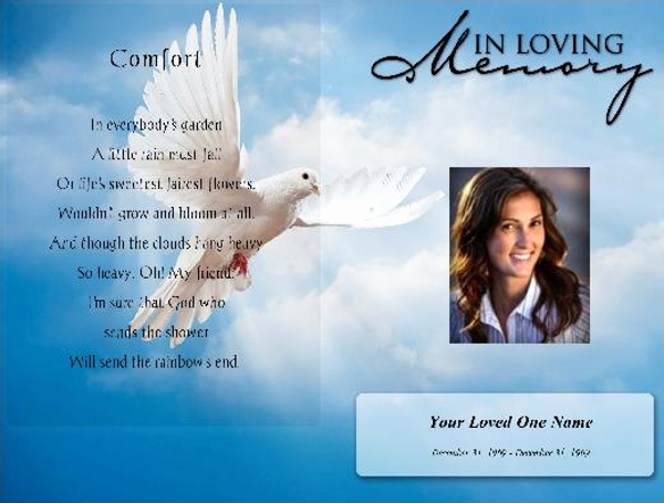Free Printable Funeral Program Template Lovely 17 Funeral Program Templates