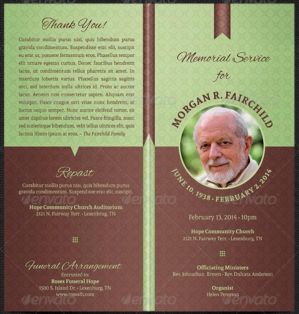 Free Printable Funeral Program Template Luxury 17 Funeral Program Templates