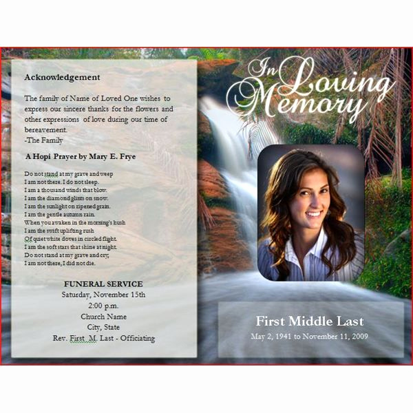 Free Printable Funeral Program Template Luxury Downloadable Funeral Bulletin Covers