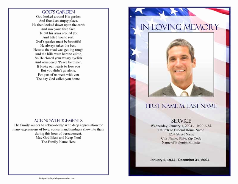 Free Printable Funeral Program Template Luxury Funeral Program Templates