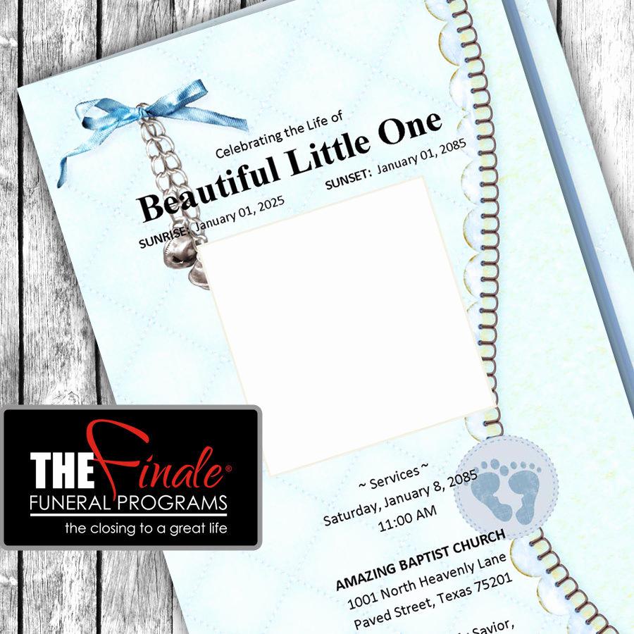 Free Printable Funeral Program Template Luxury His Tiny Feet Printable Funeral Program Template