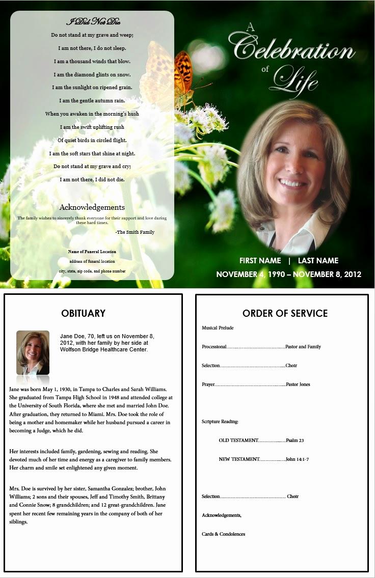 Free Printable Funeral Program Template Luxury the Funeral Memorial Program Blog Free Funeral Program