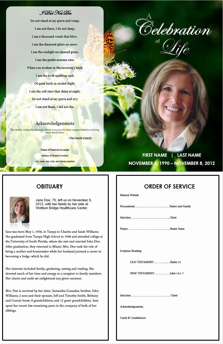 Free Printable Funeral Program Template Unique 73 Best Printable Funeral Program Templates Images On