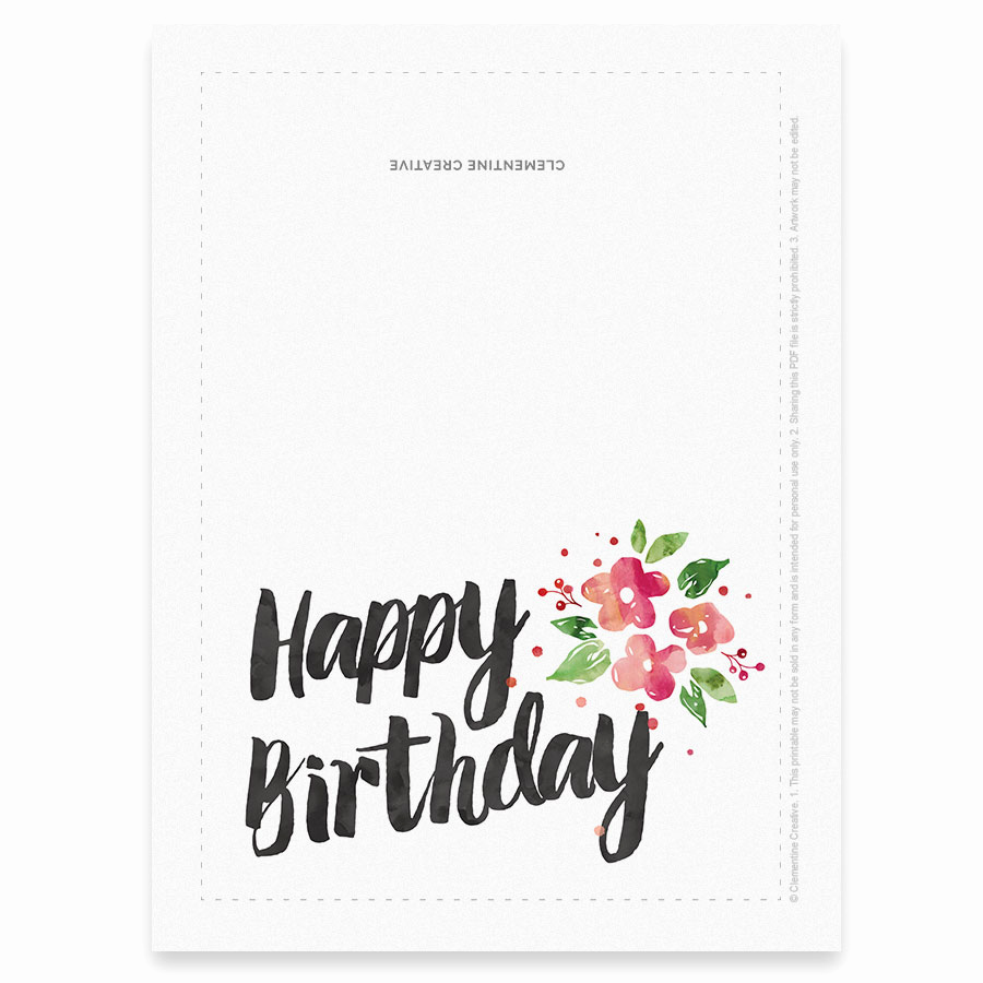 Free Printable Funny Birthday Cards Awesome Printable Birthday Card for Her