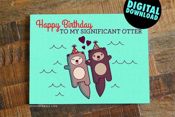 Free Printable Funny Birthday Cards Inspirational Funny Printable Birthday Card for Boyfriend Girlfriend