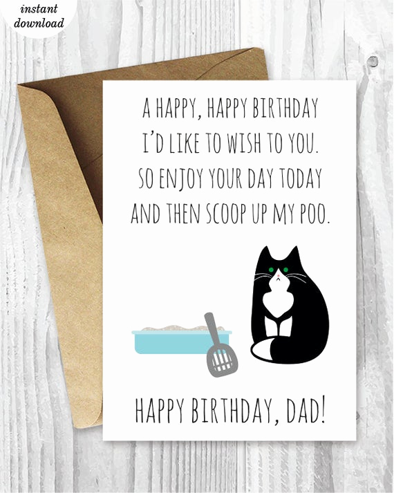 Free Printable Funny Birthday Cards Inspirational Printable Funny Birthday Cards Black and White Cat Cards