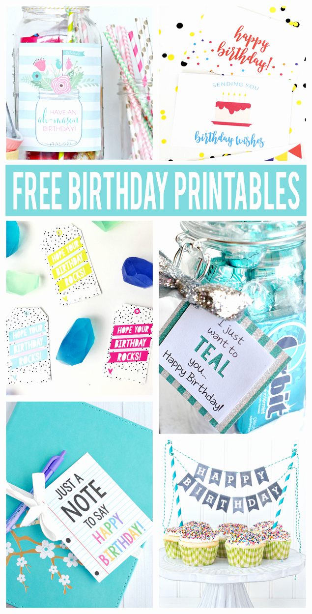 Free Printable Funny Birthday Cards Luxury Free Birthday Printables Eighteen25