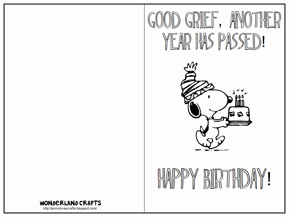 Free Printable Funny Birthday Cards Luxury Wonderland Crafts Template