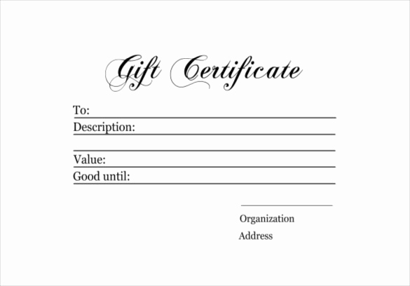 Free Printable Gift Certificate Templates Elegant 6 Homemade Gift Certificate Templates Doc Pdf