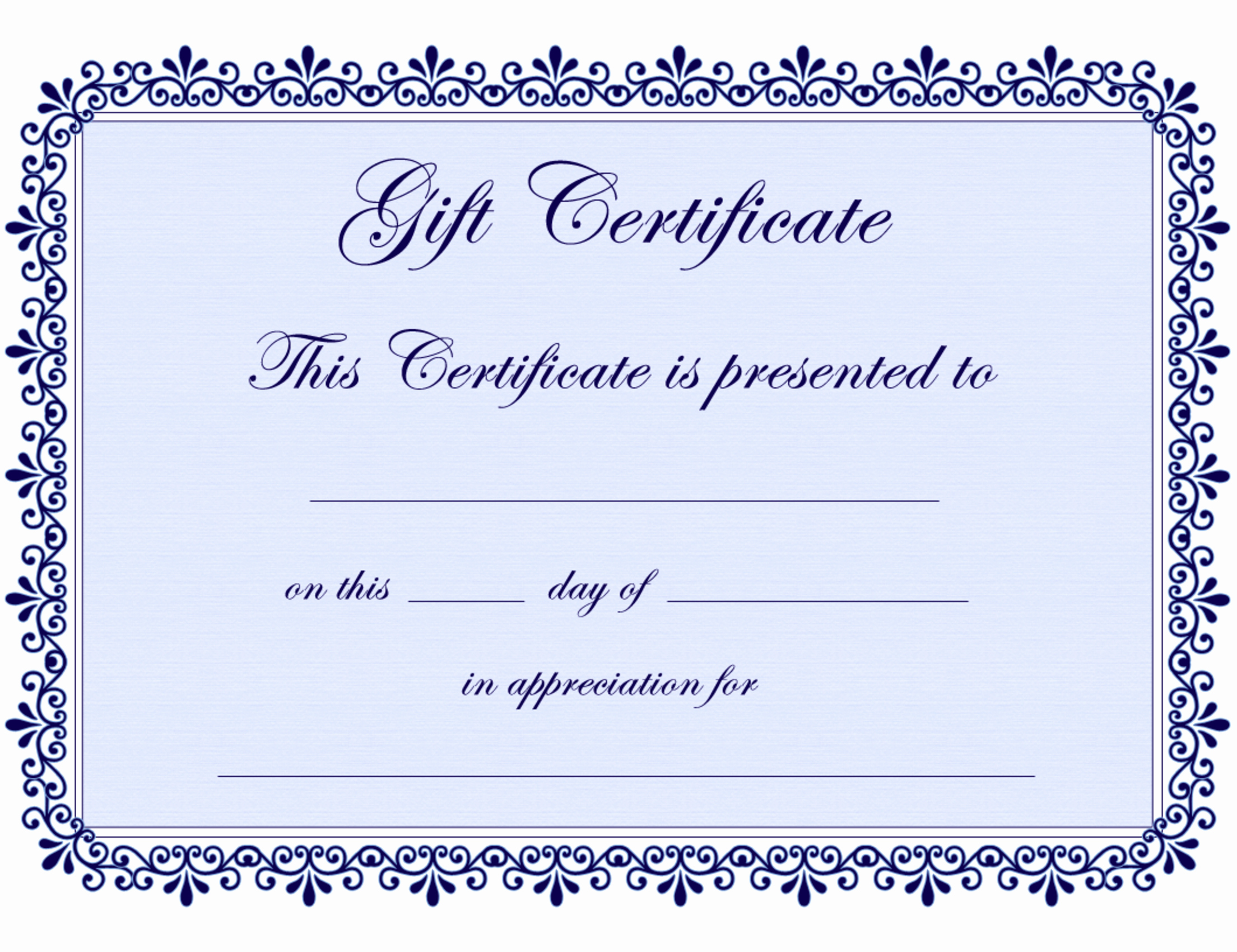 Free Printable Gift Certificate Templates Elegant Certificate Templates