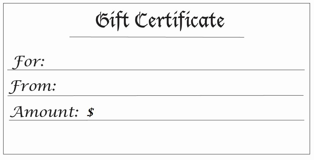 Free Printable Gift Certificate Templates Luxury 28 Cool Printable Gift Certificates