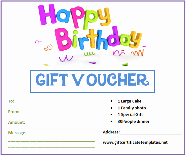 Free Printable Gift Certificate Templates Unique Birthday Gift Certificate Templates by