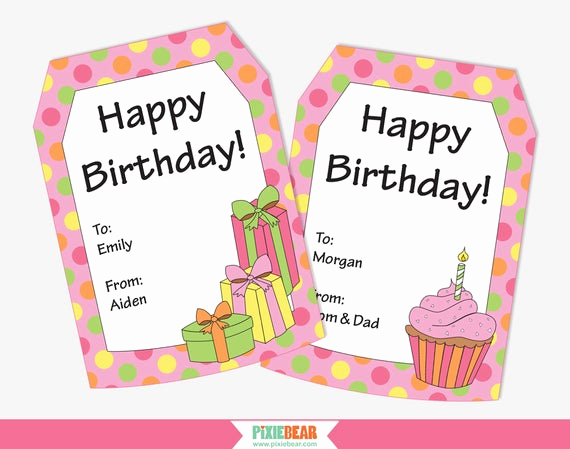 Free Printable Gift Tags Personalized Awesome Birthday Gift Tags Personalized Gift Tags Personalized