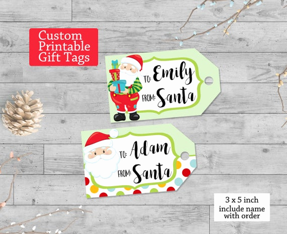 Free Printable Gift Tags Personalized Beautiful Printable Gift Tags Personalized Custom Santa Tags Gift Tags