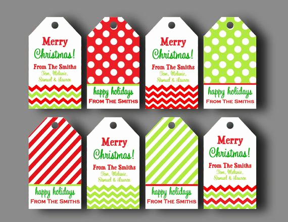 Free Printable Gift Tags Personalized Best Of Personalized Christmas Gift Tags Printable or Printed with