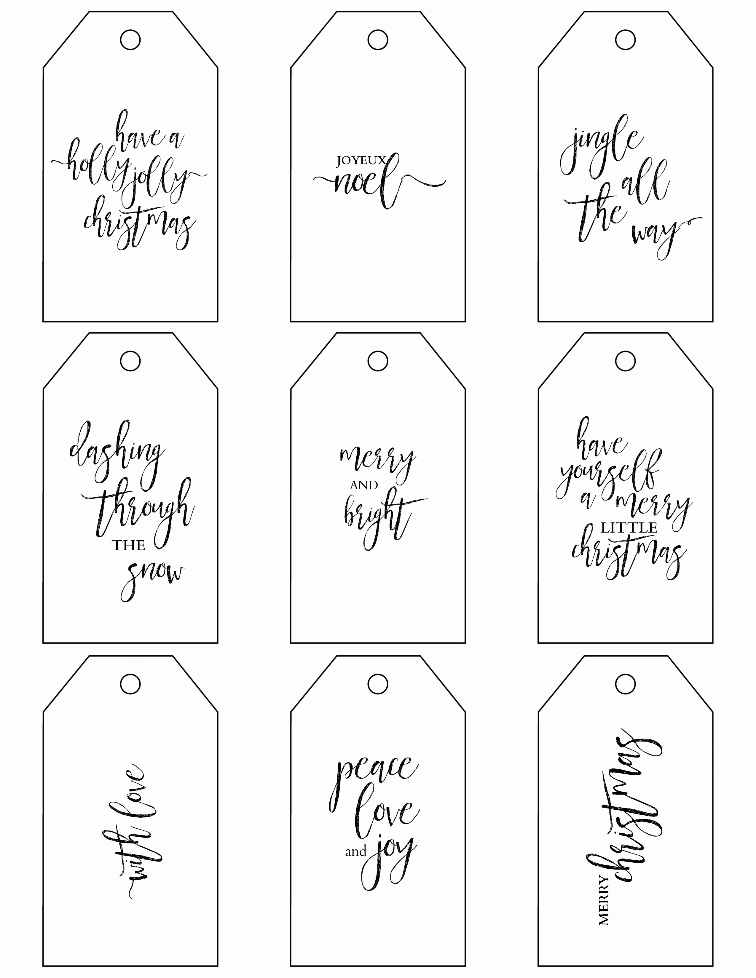 Free Printable Gift Tags Personalized Best Of Printable Christmas Gift Tags Make Holiday Wrapping Simple