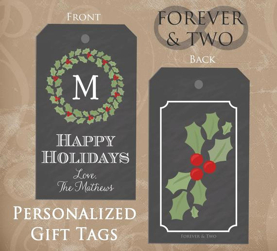 Free Printable Gift Tags Personalized Elegant Personalized Gift Tags Christmas T Tags by foreverandtwo