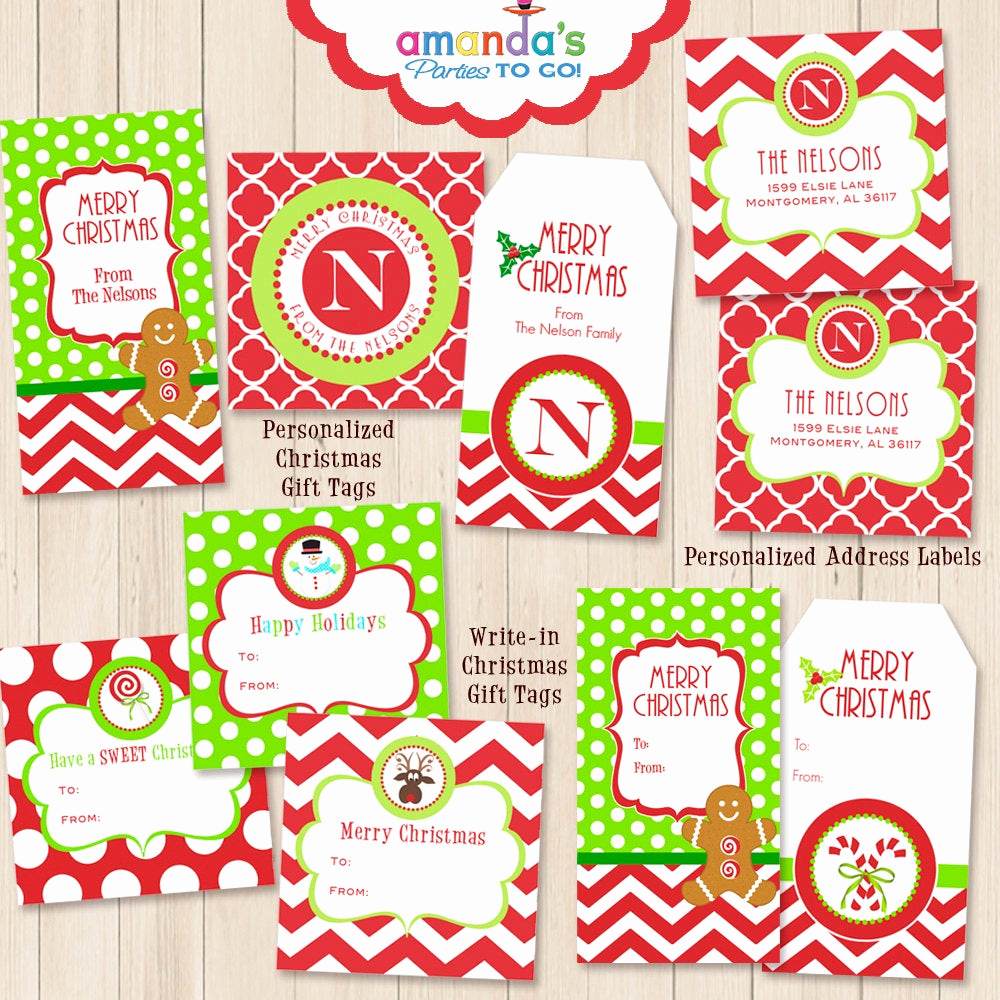 Free Printable Gift Tags Personalized Inspirational Christmas Gift Tags Printables Personalized Monogram