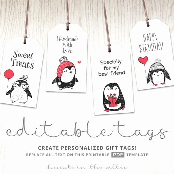 Free Printable Gift Tags Personalized Lovely Editable T Tags Cute Labels by the Sheet Personalized